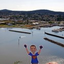 In Anacortes WA looking down from Cap Sante Park
