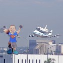 """I saw the shuttle land in LAX\"""