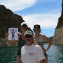 Paper Jackson on Lake Mead with the Kelleher family:)!